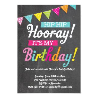 Hooray It's My Birthday 13 Cm X 18 Cm Invitation Card