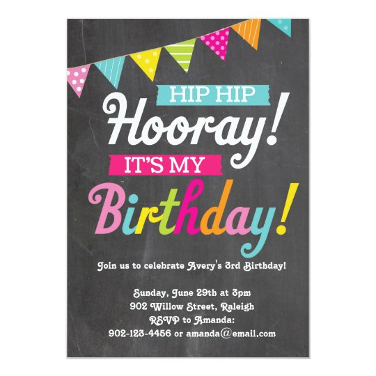 Hooray its my birthday card zazzle hooray its my birthday card bookmarktalkfo Choice Image