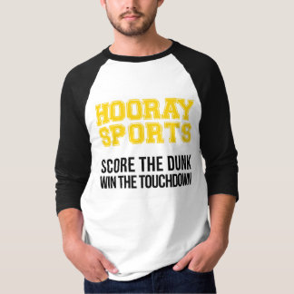 Hooray Sports Score The Dunk - Yellow T-Shirt