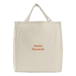 Hoosier Housewife Embroidered Tote Bags