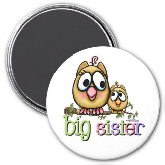 Hoot for Big Sister 7.5 Cm Round Magnet