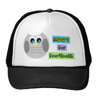 HOOT FOR FOOTBALL (CUTE OWLS) HAT