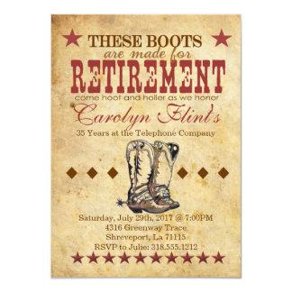 Hoot & Holler Retirement Invitation
