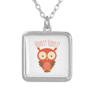 Hoot Hoot Square Pendant Necklace