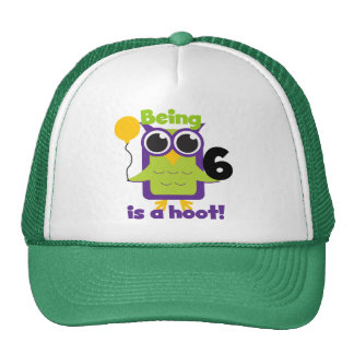 Hoot Owl 6th Birthday T-shirts and Gifts Cap