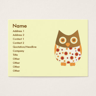 Hoot Owl Business Card