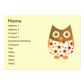 Hoot Owl Business Card Templates