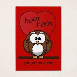 Hoot Owl Valentine Red Heart Kids Pack