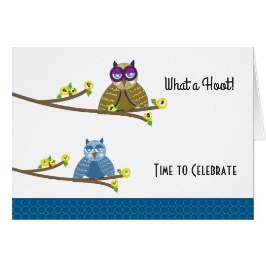 Hoot Owls Birthday Card