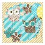 Hoot Owls Customised Birthday Invitation 13 Cm X 13 Cm Square Invitation Card