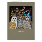 Hootenanny Time thank you note card