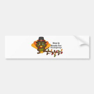 HooThanksgivingBL Bumper Stickers