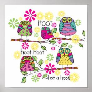 Hootie Owl Poster