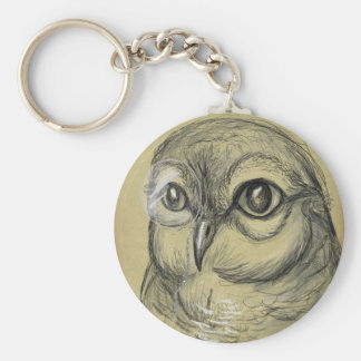 Hooting Intellect Basic Round Button Key Ring
