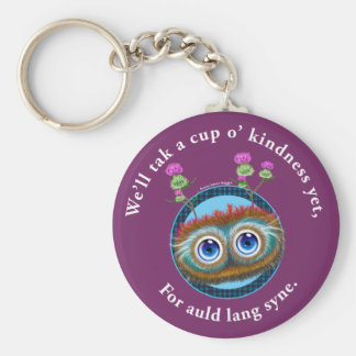 Hoots Toots Haggis. Auld Lang Syne. Basic Round Button Key Ring