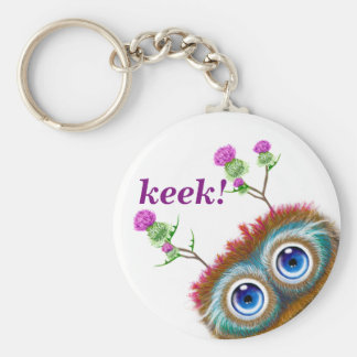 Hoots Toots Haggis. Keek! Basic Round Button Key Ring