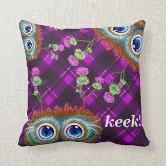 Hoots Toots Haggis. Keek! Throw Cushions