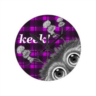Hoots Toots Haggis. Keek! Wall Clocks
