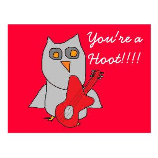 Hooty Cutie Owl card Postcard