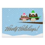 Hooty Holidays Greeting Cards