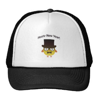 Hooty New year! Hipster owl Mesh Hats