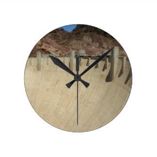 Hoover Dam 2 Round Clock