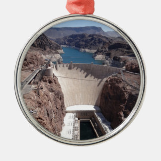 Hoover Dam 3 Silver-Colored Round Decoration