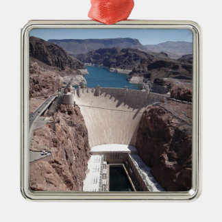 Hoover Dam 3 Silver-Colored Square Decoration