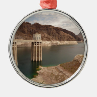 Hoover Dam 4 Silver-Colored Round Decoration