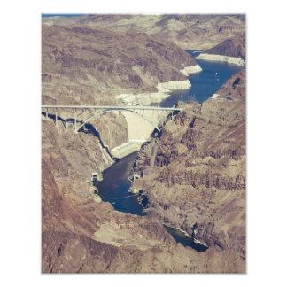 Hoover Dam Aerial Photo Print