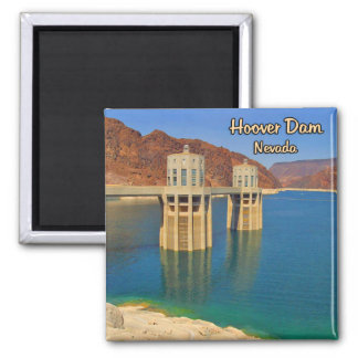 Hoover Dam and Lake Mead Square Magnet