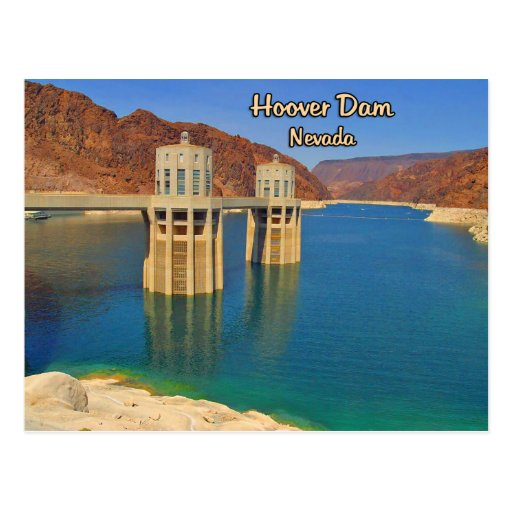 Hoover Dam and Lake Mead Post Card
