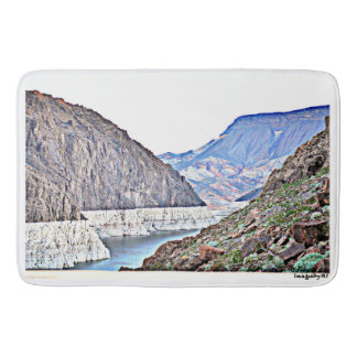 Hoover Dam/Colorado River Large Custom Bath Mat. Bath Mats
