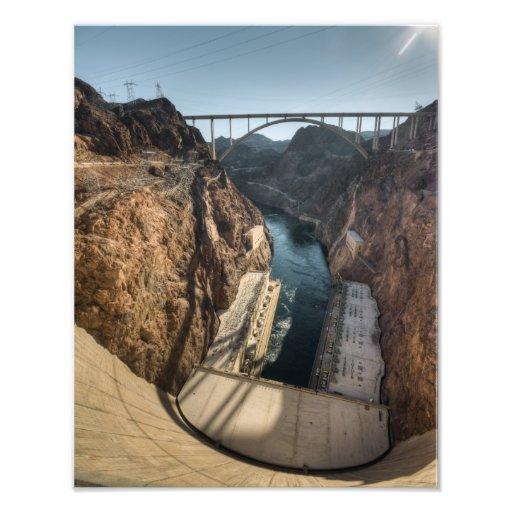 Hoover Dam downstream and bridge Photographic Print