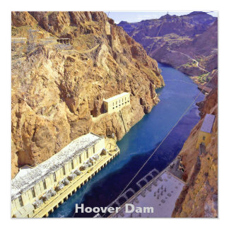 Hoover Dam in Arizona Invitation