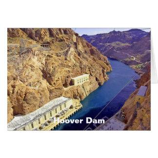 Hoover Dam in Arizona Note Card