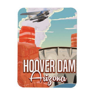 Hoover Dam Nevada Arizona Vintage cartoon Rectangular Photo Magnet