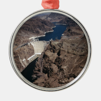 Hoover Dam Silver-Colored Round Decoration