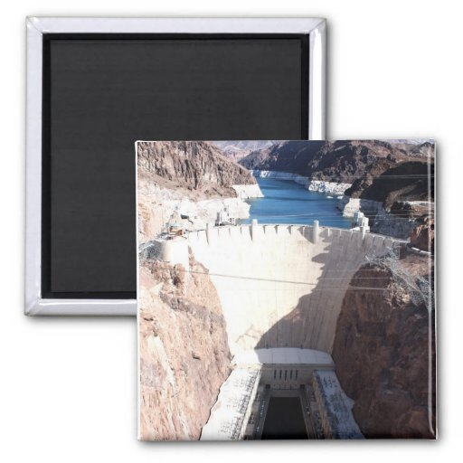 Hoover Dam Square Magnet