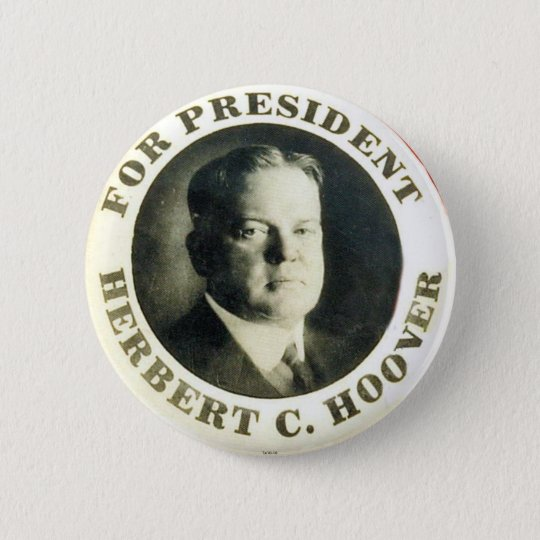 Hoover for President - Button