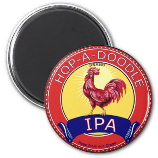 Hop a Doodle IPA Beer 6 Cm Round Magnet