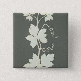 Hop plant 15 cm square badge