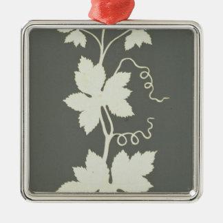 Hop plant Silver-Colored square decoration