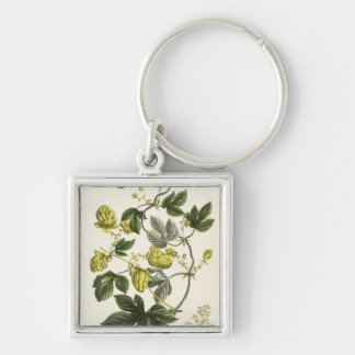 Hop Vine, from 'The Young Landsman', published Vie Silver-Colored Square Key Ring