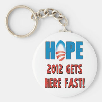 Hope 2012 Gets here fast Keychains