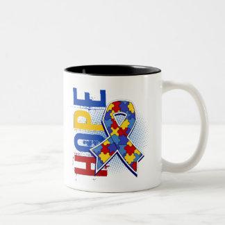 Hope 2 Autism Two-Tone Coffee Mug