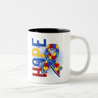 Hope 2 Autism Two-Tone Mug