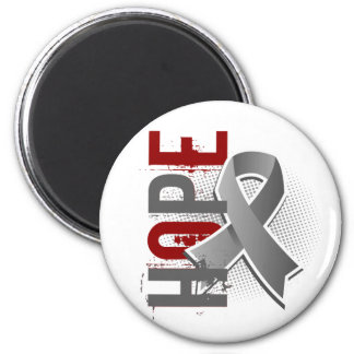 Hope 2 Brain Cancer 6 Cm Round Magnet