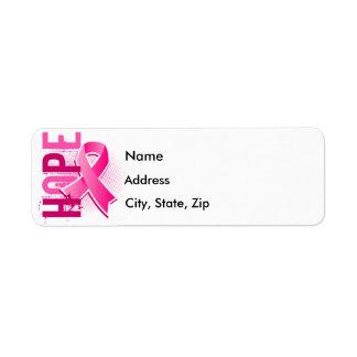 Hope 2 Breast Cancer Return Address Label