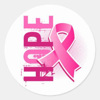Hope 2 Breast Cancer Round Sticker